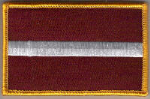 Latvia Embroidered Flag Patch, style 08.